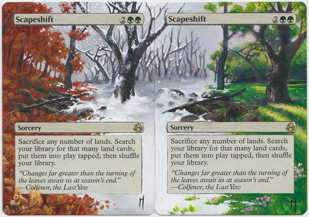 - First 2 cards, done in December 2017