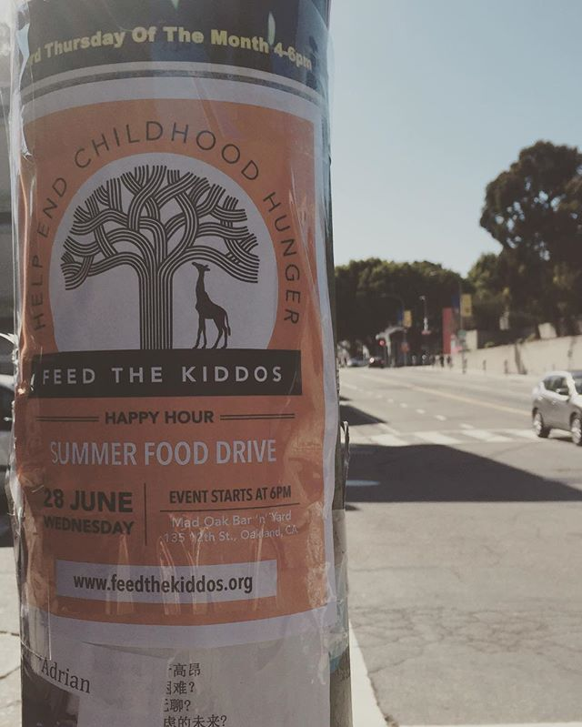 See you June 28 #oakland #lakemerritt #giraffe #oaktree #feedthechildren #helpthekids #fooddrive #summer #eastbay #bayarea #food #makeadifference #feedthekiddos