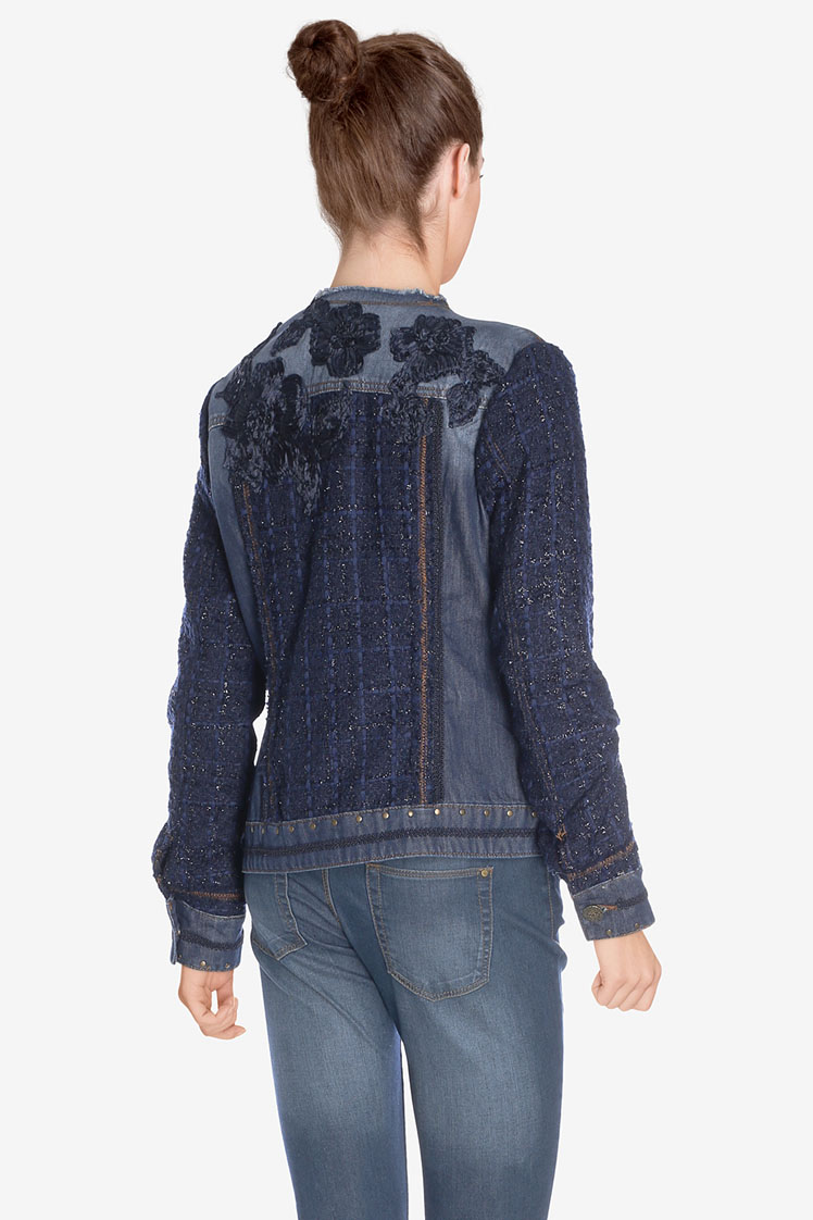 Desigual Exotic Crochet Jacket available from our Broadbeach Store Style #17WWED39