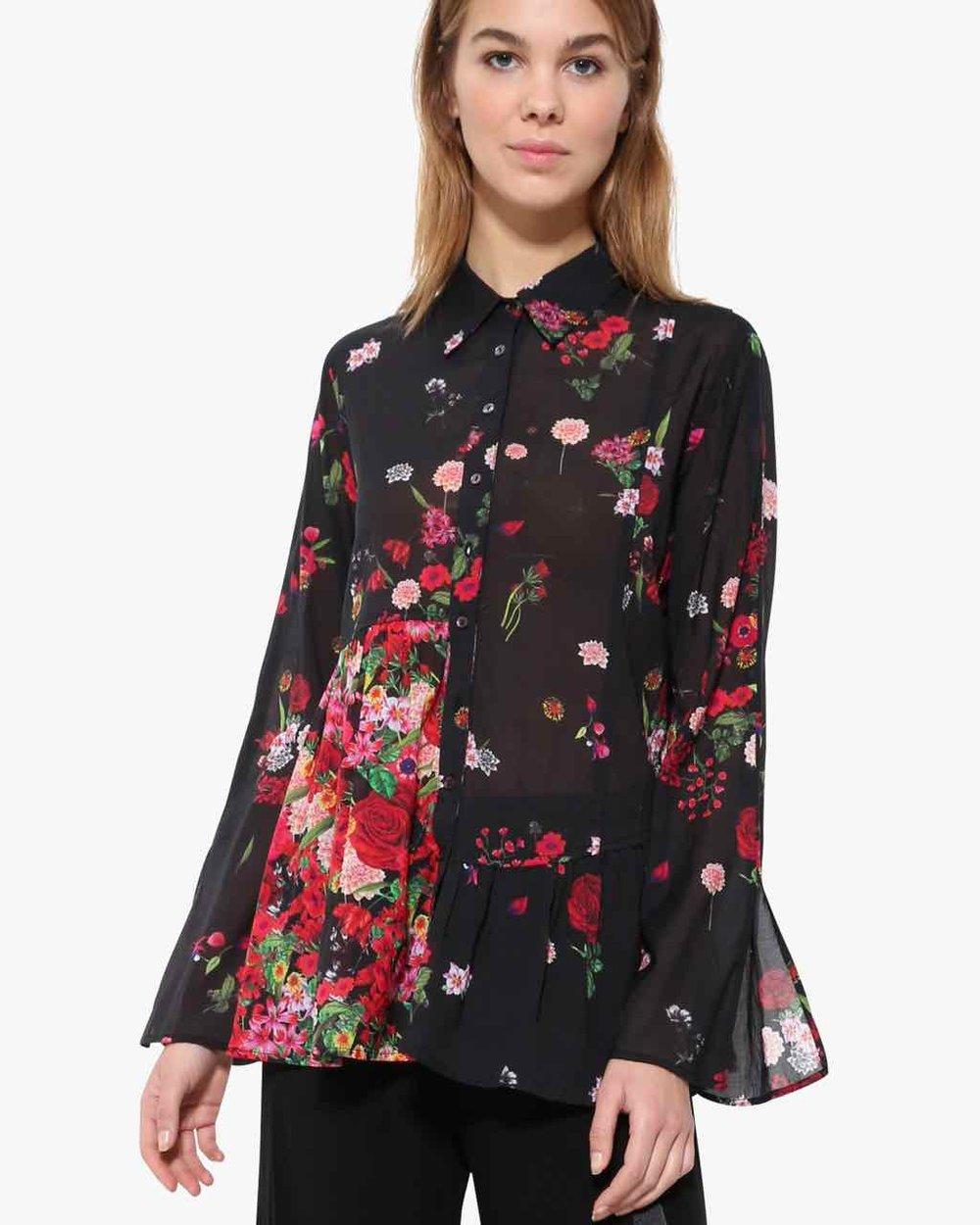 "Desigual  Blouse ""Multicolour"" In Black Available in our Broadbeach Store. Style # 17WWCW40"
