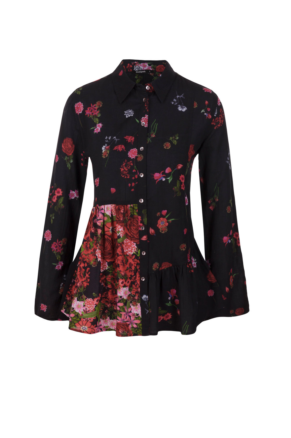 """Desigual Blouse """"Multicolour"""" In Black Available in our Broadbeach Store.Style # 17WWCW40"""