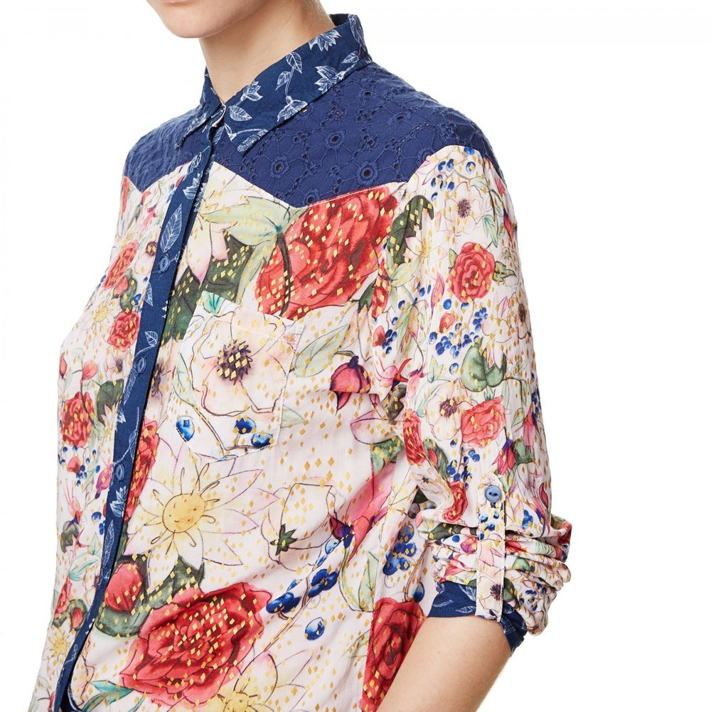 Desigual Cam Brussels Blouse. Available in our Broadbeach store. Style # 17WWCW64