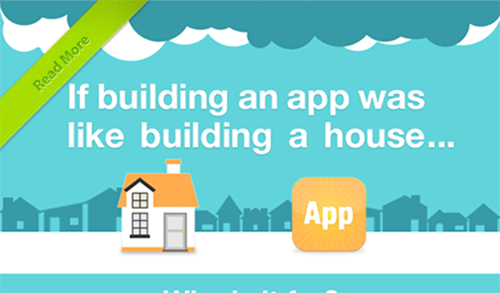 If building app was like building a house For those of you new to mobile get this infographic for a bird's eye view of the key steps in building a mobile app