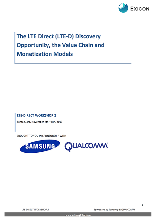 You and LTE (Long Term Evolution) Discover how LTE-Direct is presenting real monetization models as mobile users' needs and expectations from a context, multiple location and physical relevance perspective.