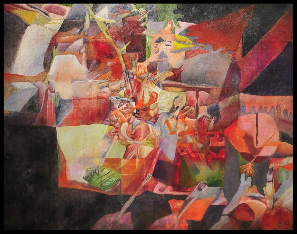 Title: 'Silent Cataclysm' Media: Oil on canvas Size: 117 x 94 cm Location: Bruce Sherratt Gallery, Bali