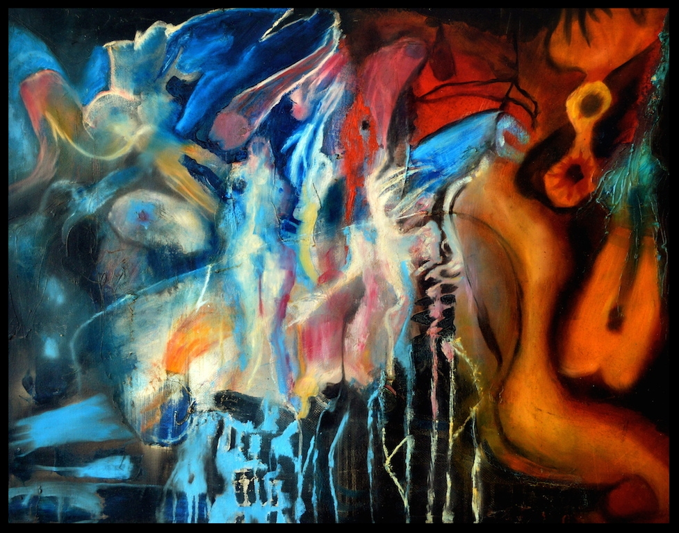 Title: 'Rhythm Of The Libido' 2008 Medium: Oil paint on canvas Size: 100 x 86 cm Location: Bruce Sherratt Gallery, Bali