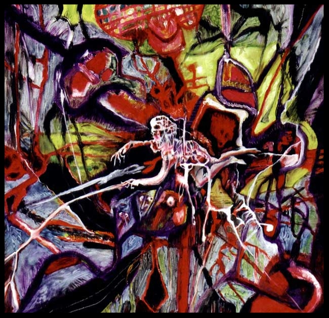 'The Victim', 1998 Medium: Oil on canvas Size: 45 x 45 cm Location: Basile Collection, London