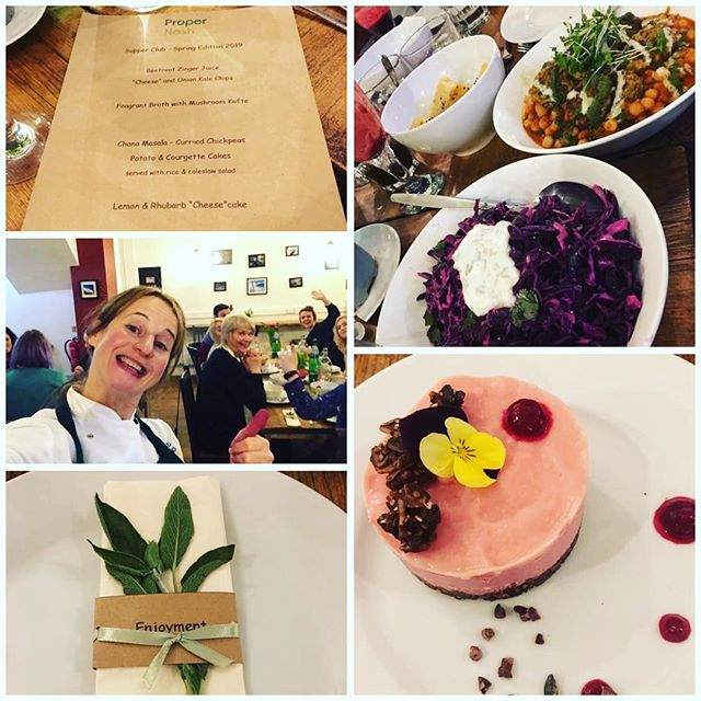 Yesterday saw the launch of the #ProperNosh #supperclub events - a totally #plantbased #vegan #menu and an evening of #sharing #community #enjoyment #friendship #health #nutrition #laughter - thank you to everyone who came 💕💚