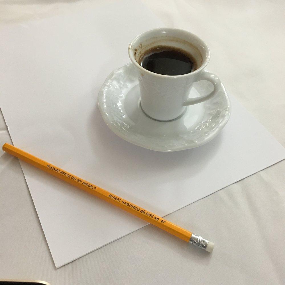 """- """"Please write on my behalf"""". Murat Sabuncu, chefredaktör för den turkiska dagstidningen Cumhuriyet, skickar en hälsning från fängelset."""