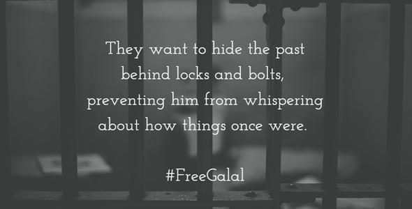 Foto: utdrag ur en dikt som El-Behairy skrivit i fängelse
