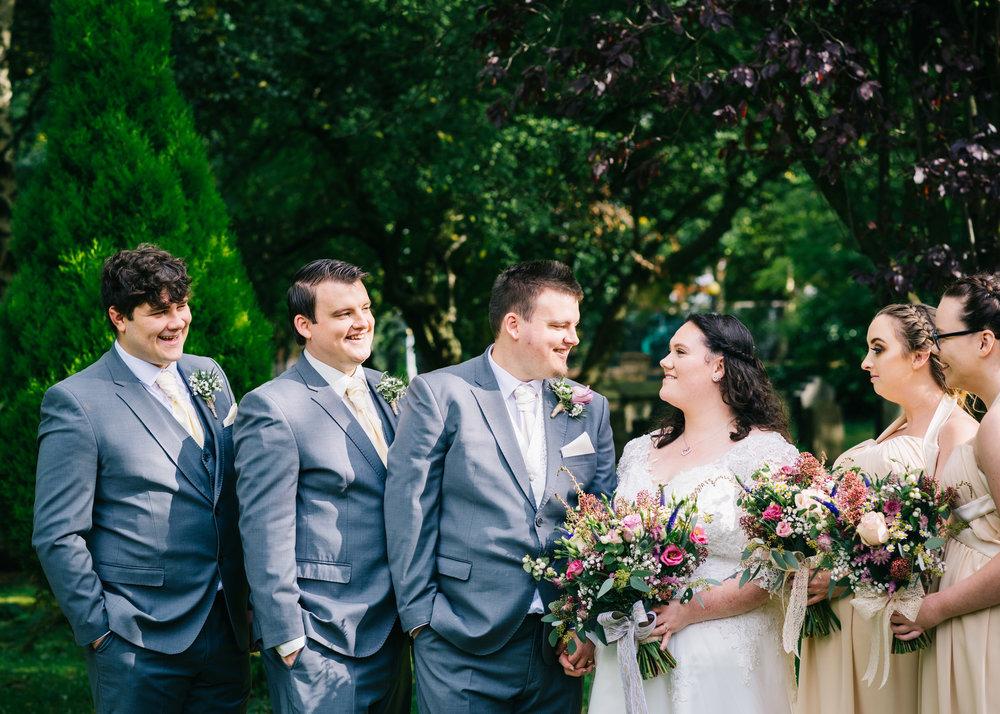 Wild flower & woodland theme wedding in manchester20