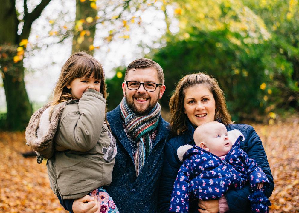 Autumn mini sessions Lancashire Towneley Park