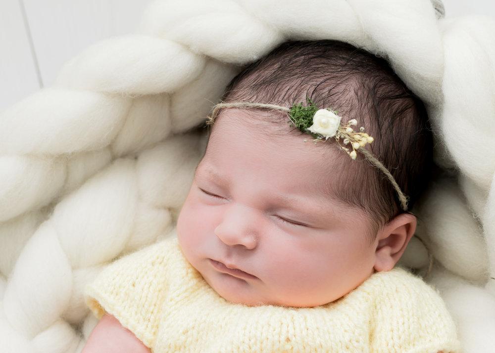 newborn girl photoshoot Lancashire