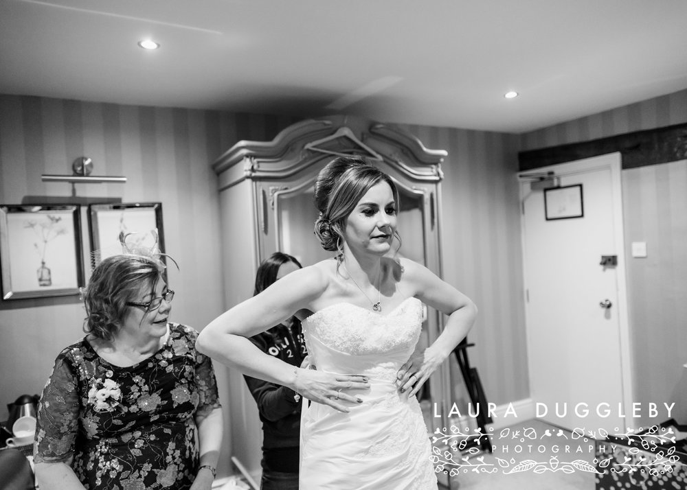 Winter Wedding Shireburn Arms Ribble Valley29
