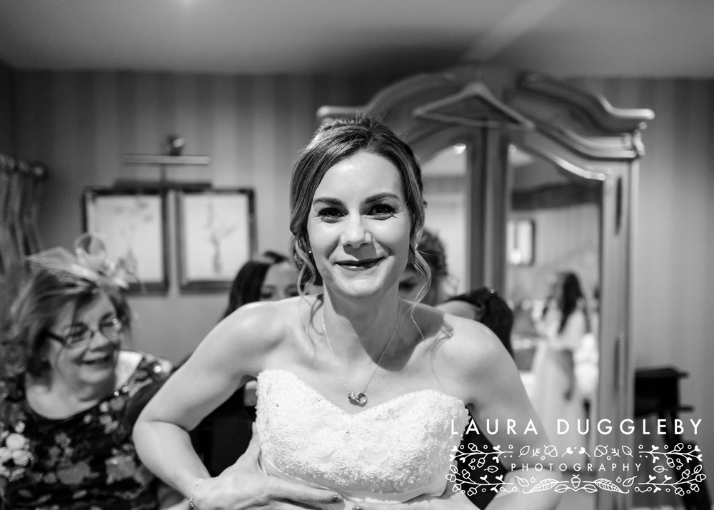 Winter Wedding Shireburn Arms Ribble Valley32