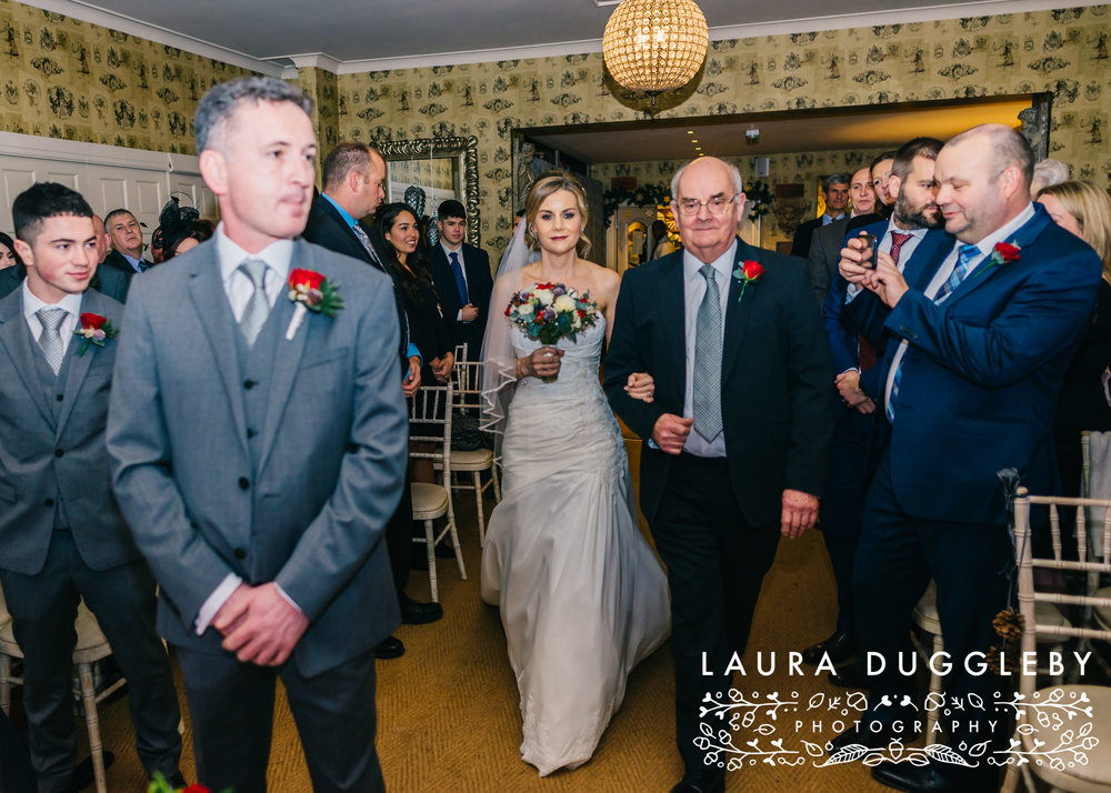 shireburn arms winter wedding ribble valley3