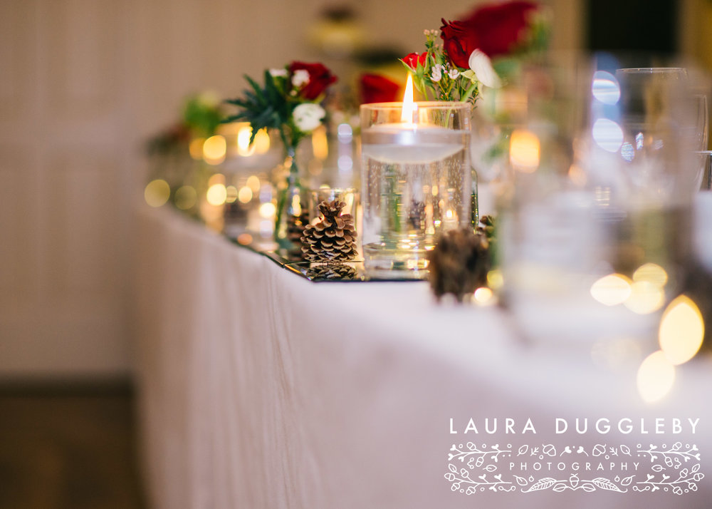 Shireburn Arms Winter Wedding Table Details