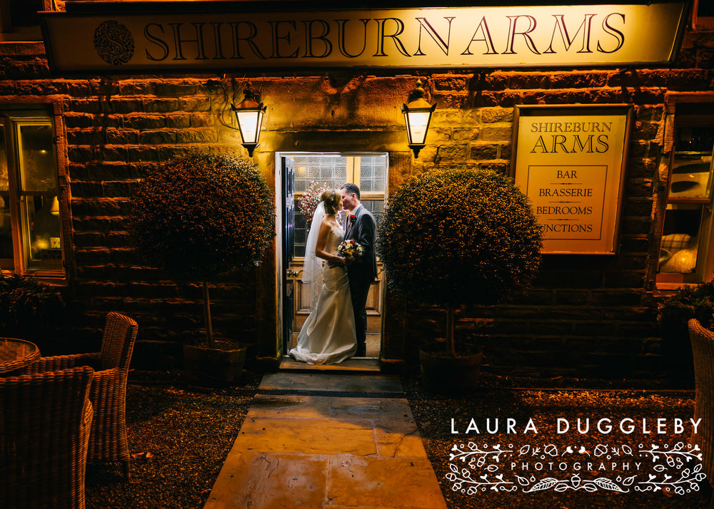 Shireburn Arms Wedding Night-time Portrait