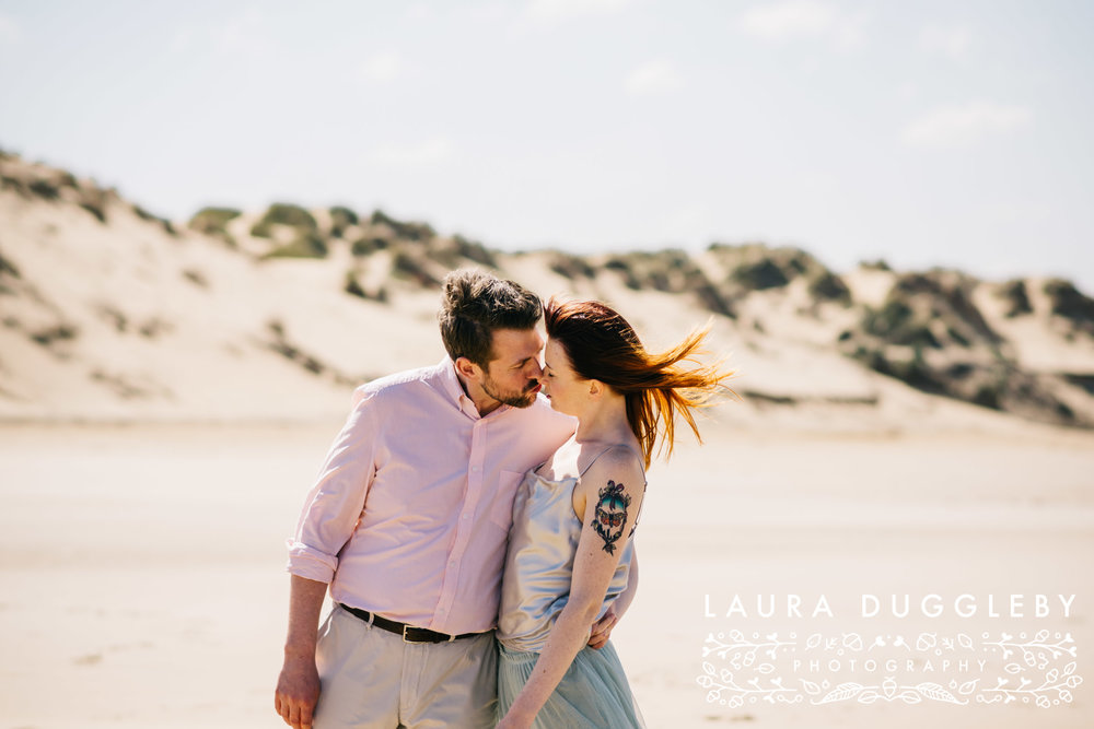 Lancashire engagement shoot formby beach