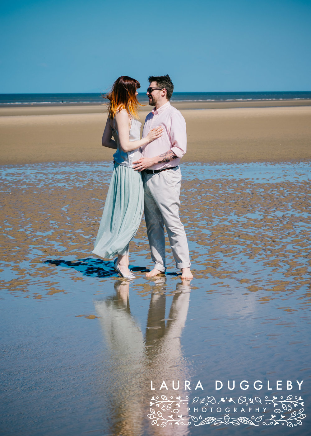 Formby beach engagement shoot