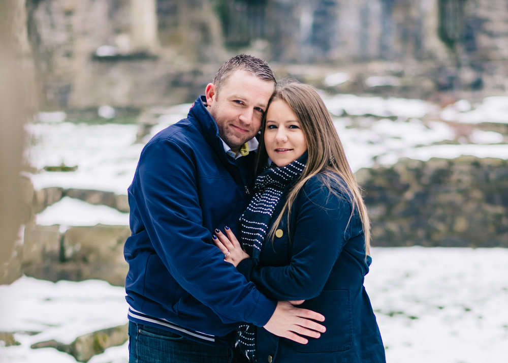 Ribble Valley Winter Engagement Shoot at Whalley Abbey