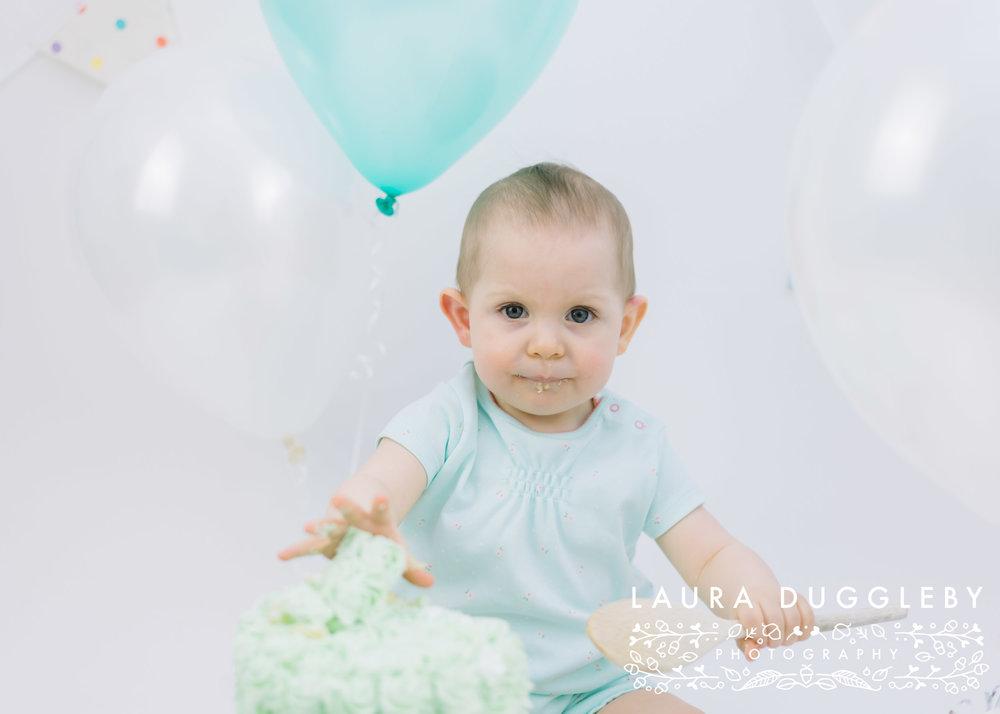 cake smash photographer lancashire