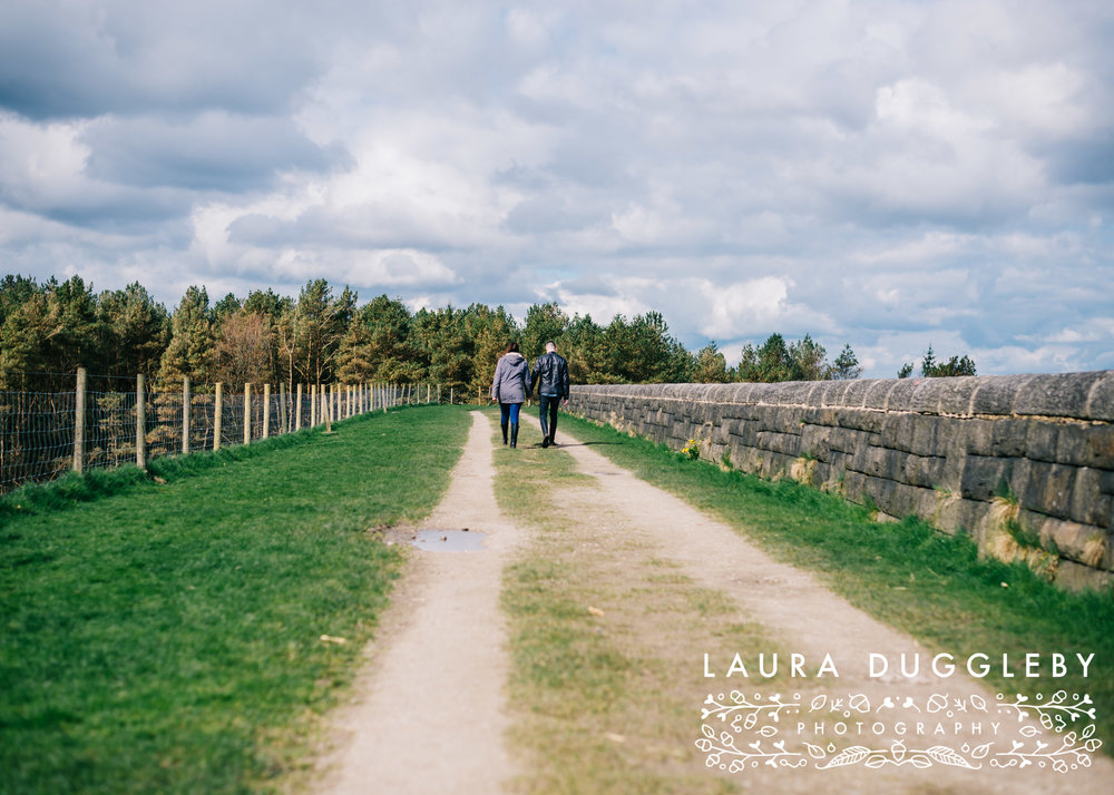 Hurstwood Reservoir Engagement Shoot - Ribble Valley Wedding Photographer