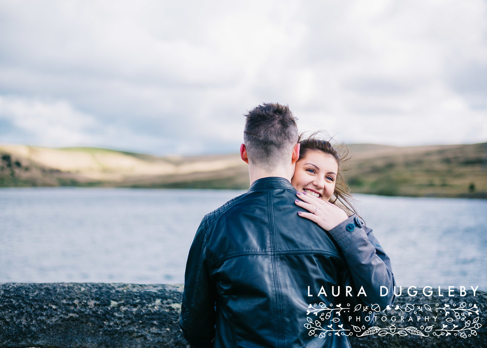 Hurstwood Reservoir Engagement Shoot - Ribble Valley Wedding Photographer4