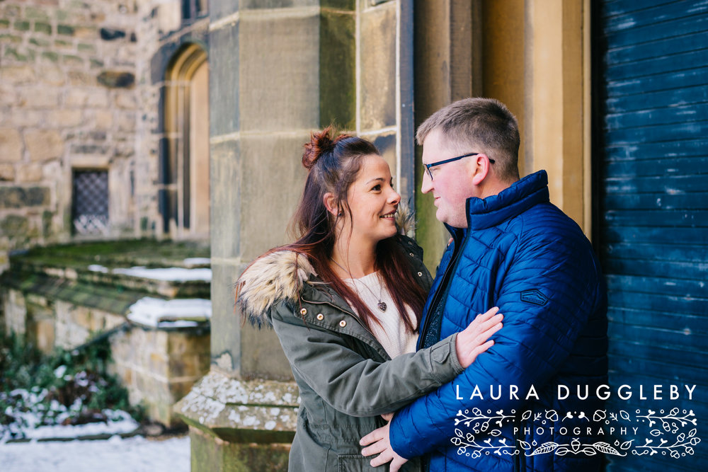 Lancashire Snowy Engagement Shoot