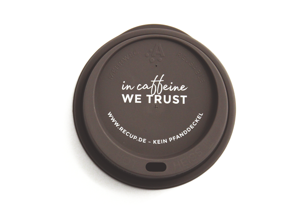 """In caffeine we trust"" Zartbitter"