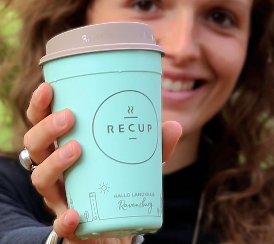 LANDKREIS RAVENSBURG-RECUP  HALLO Landkreis Ravensburg! Toll, dass nun auch dieser Landkreis seinen Kaffee im Mehrwegbecher genießt. #einfachbesserbechern