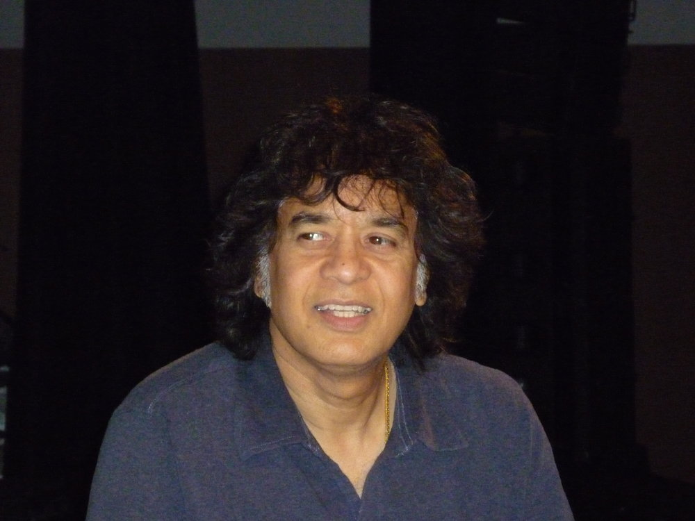 USTAD ZAKIR HUSSAIN   the great Indian Maestro of the Tablas. A living legend. (photo copyright Igor Wakhevitch)