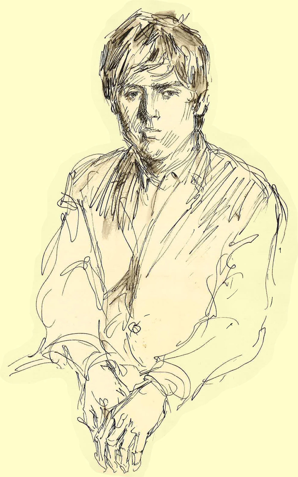 Igor Wakhevitch at 18 years old. Drawing by Serge Ivanov
