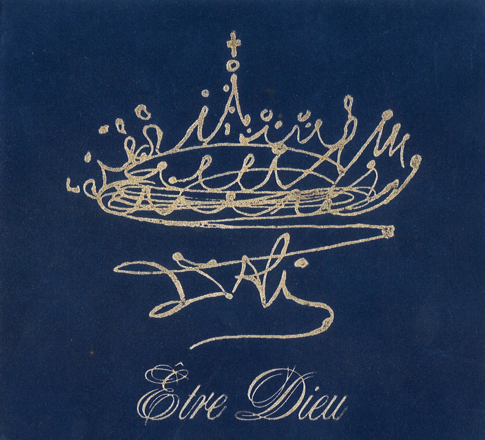 "Cover by SALVADOR DALI for ""Être Dieu"" (To Be God), opera-poem in six parts. Music by IGOR WAKHEVITCH (Eurostar Rec.) EMI sound studio - Paris Boulogne."