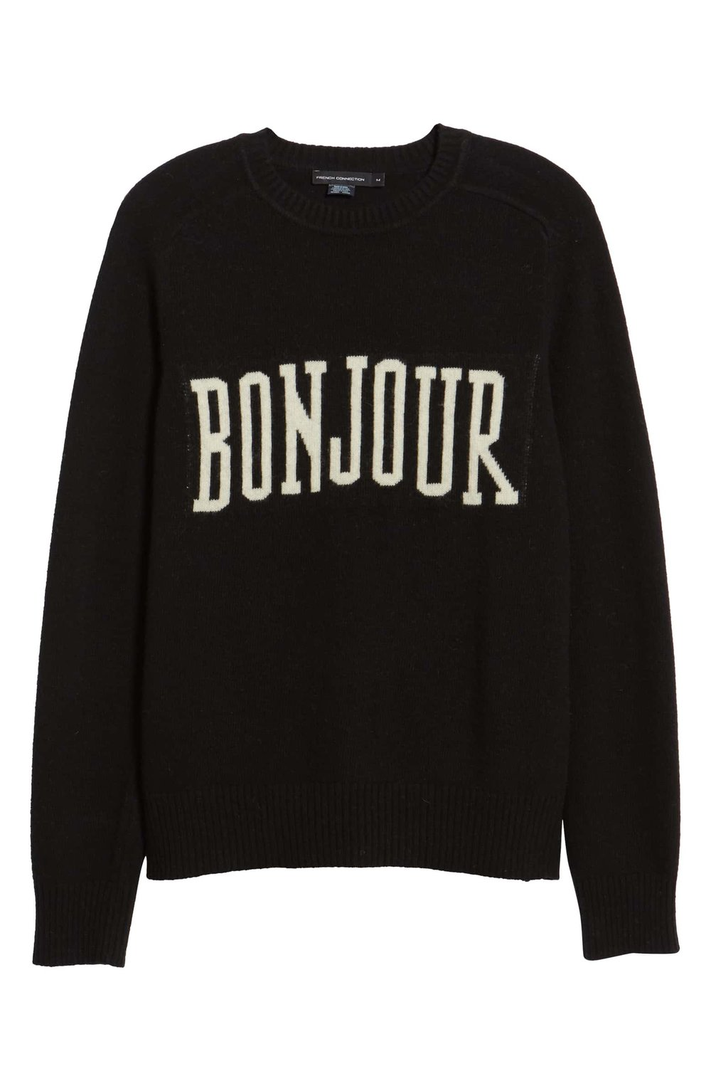 French Connection Black and White Bonjour Sweater.jpeg