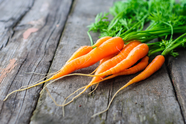 3) VITAMIN A & CAROTENOIDS - Vitamin A helps to increase collagen production and topically it has been shown to reduce wrinkles. Carotenoids help to defend against UV-induced skin damage and increased levels of carotenoids have been associated with fewer wrinkles and younger looking skin.Vitamin A is found in animal foods such as liver, oily fish and eggs.Some carotenoids are converted into the active form of vitamin A in the body. You can find carotenoids in orange fruits & vegetables such as sweet potatoes, butternut squash, pumpkin, papaya and carrots.