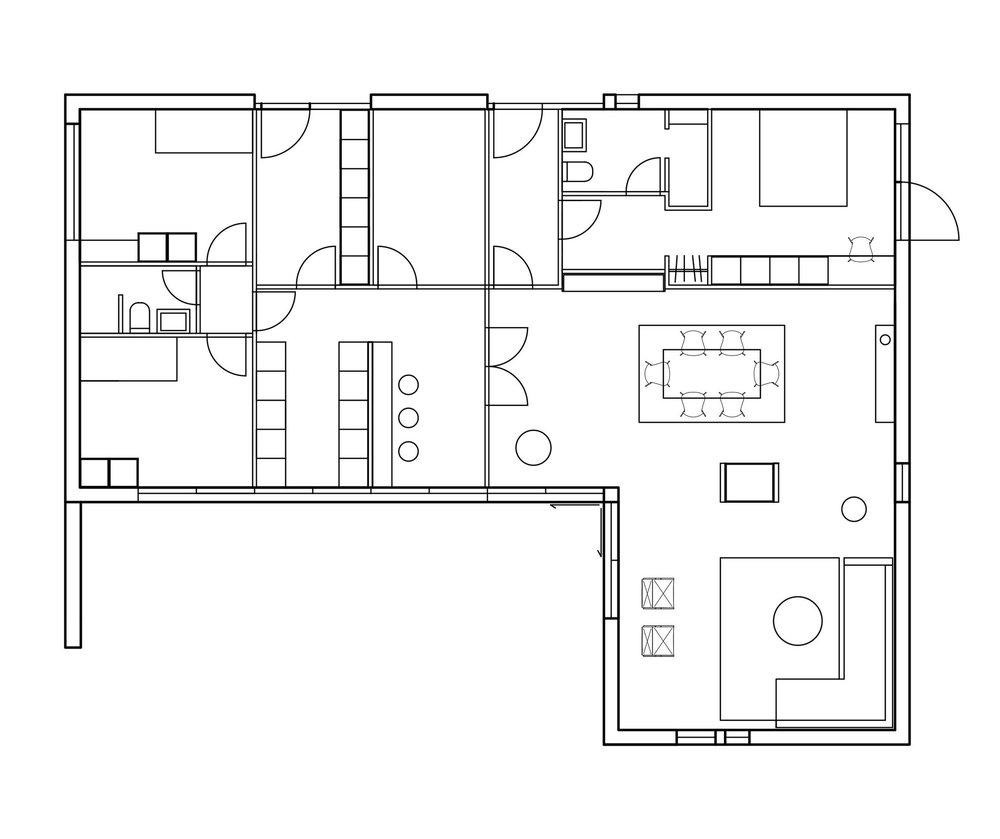 kronager - Udvidelse af eksisterende bolig med tilbygning.