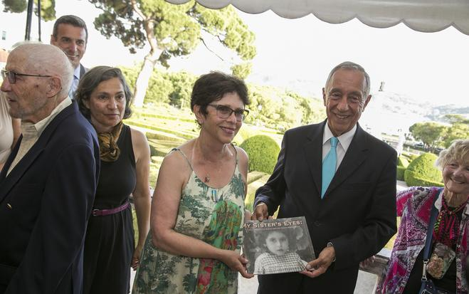 "Joan presents  My Sister's Eyes  to President Marcelo Rebelo de Sousa of Portugal   On July 3, 2016, Joan presented My Sister's Eyes to the Portuguese President  Marcelo   Rebelo de Sousa , as a part of the Sousa Mendes Foundation - "" Journey on the Road to Freedom ""."