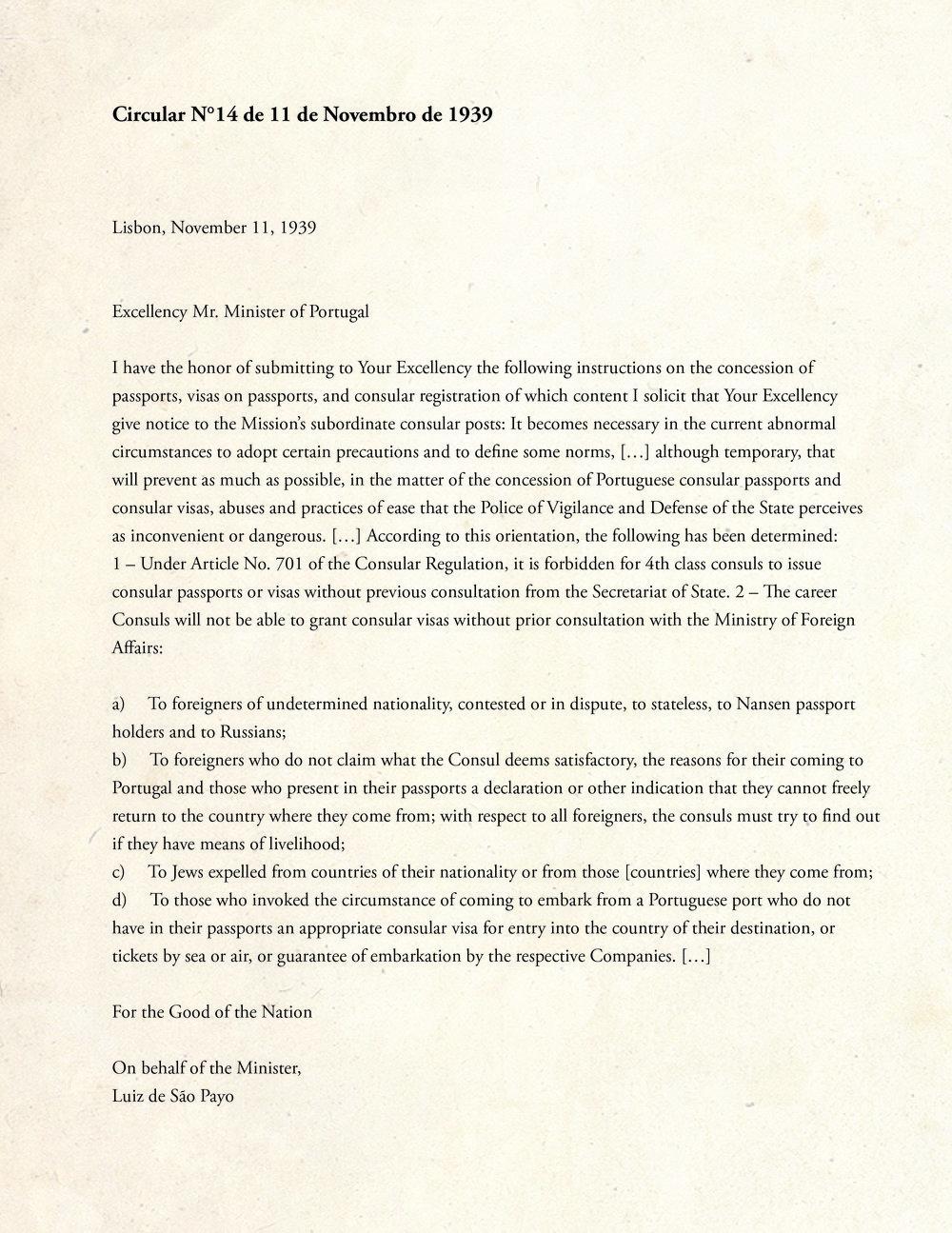 Document 1. Circular 14