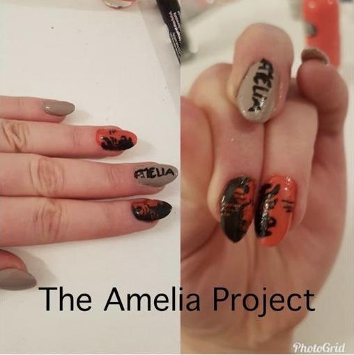 Amelia Nail Design by @PSteffiFee