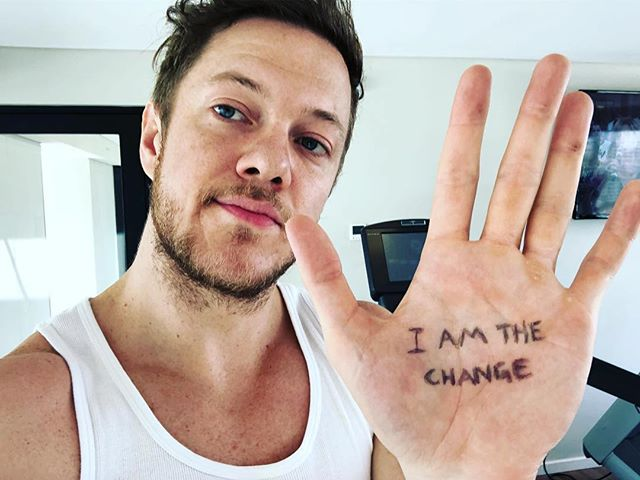 "#Repost @danreynolds ・・・ To honor @ChesterBe's birthday, I'm asking you to Change Direction. Post a pic holding up your hand 🤚, which symbolizes the 5 signs of emotional well-being. Write ""I AM THE CHANGE"" on your hand. Because the change begins within ourselves.  For info: https://www.changedirection.org"