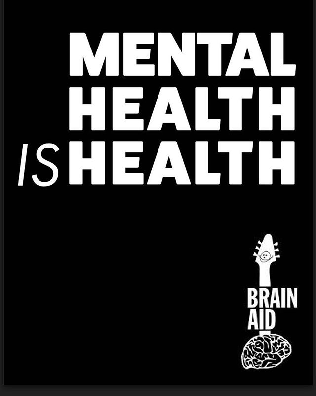 #Repost @brainaidfest ・・・ We lost some special people to suicide this week. Brain Aid wants to improve our outreach to slay stigma one person at a time. Mental health treatment works. If your business work like to display an 11x17 MENTAL HEALTH IS HEALTH poster, please email your business address and office hours to brainaidfest@gmail.com.