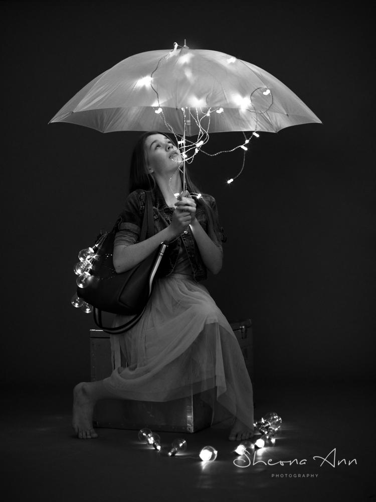 raining fairy lights