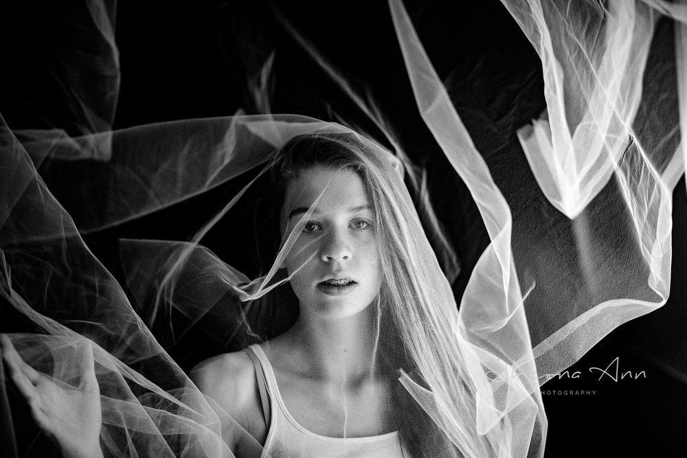 Veil shimmering in the light