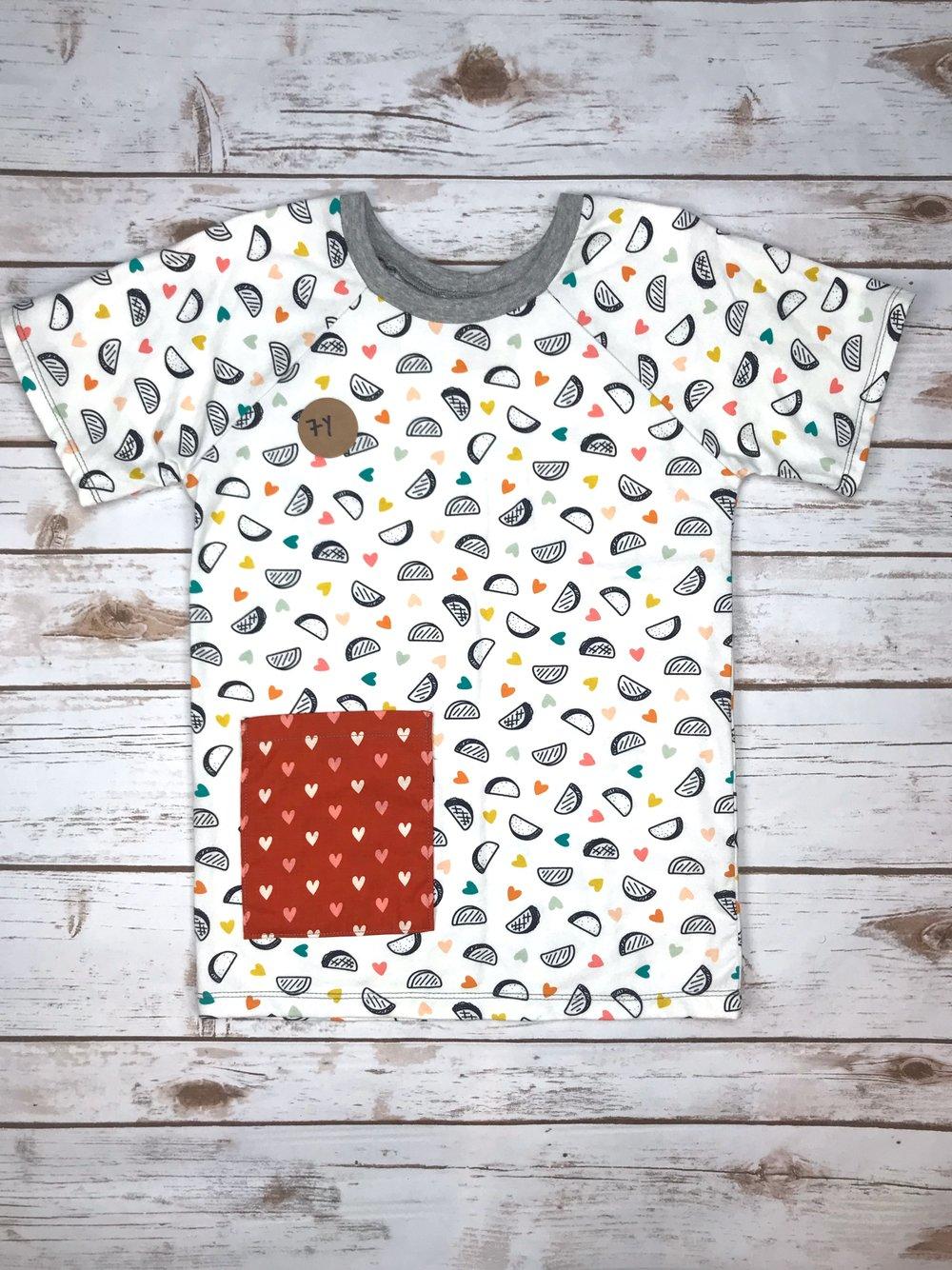 de8dbecc Kids Short Sleeved Pocket Tee - 8Y — Hedgehog Belly Designs