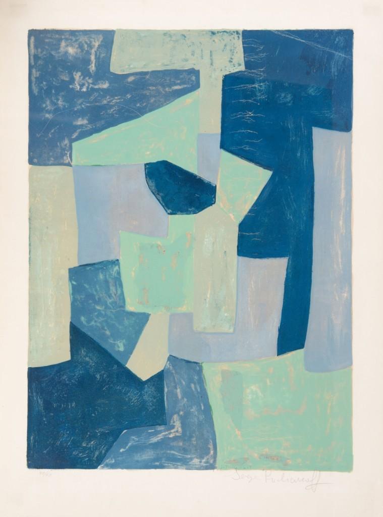 Serge Poliakoff, Composition verte, 1966