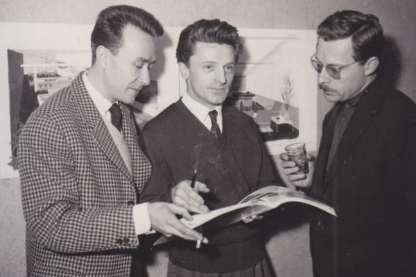 Pierre Guariche, Joseph-André Motte & Michel Mortimer, fondateurs de l'ARP
