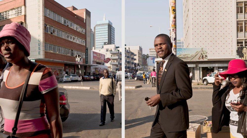 Union Avenue, Harare, Zimbabwe, 25 juillet 2016.