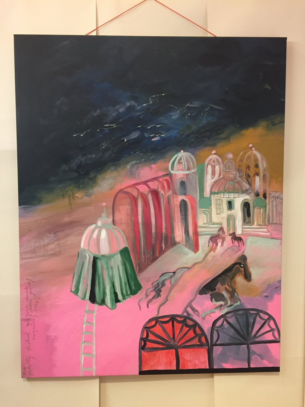 """The saddest circus horse in the world"" Tartu Art Museum, 2018  ---------"