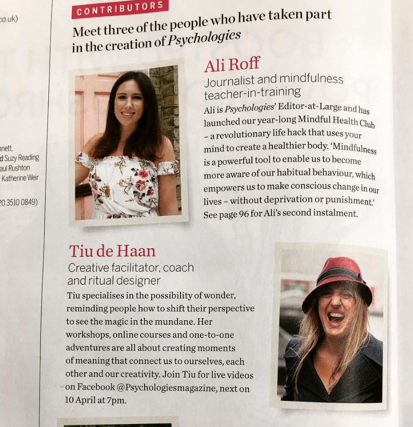 featured contributor Psychologies magazine - spring 2019